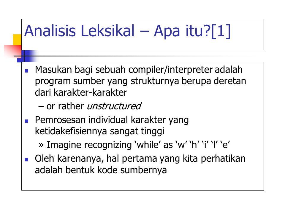 Analisis Leksikal – Apa itu [1]